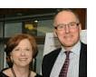 photo: Prof. Lynne Sagalyn and Hugh R. Frater '85