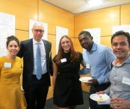 Students and faculty at the 2019 Real Estate open house
