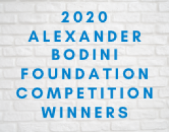 2020 Alexander Bodini Foundation Competition Winners